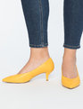Kitten Heel Pump Bright Yellow