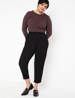 Pleat Front Peg Pant