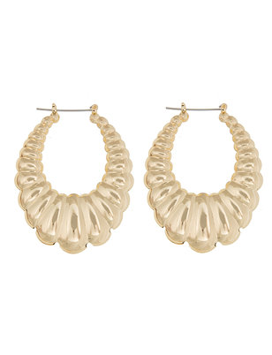 Scallop Statement Hoop Earrings