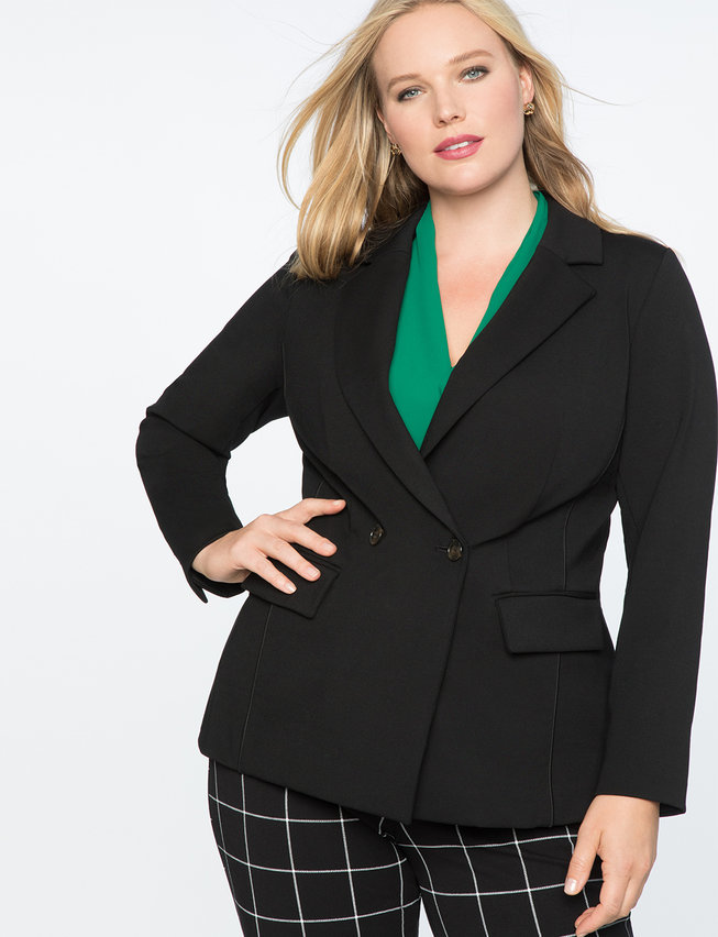 9-to-5 Stretch Work 2 Button Blazer