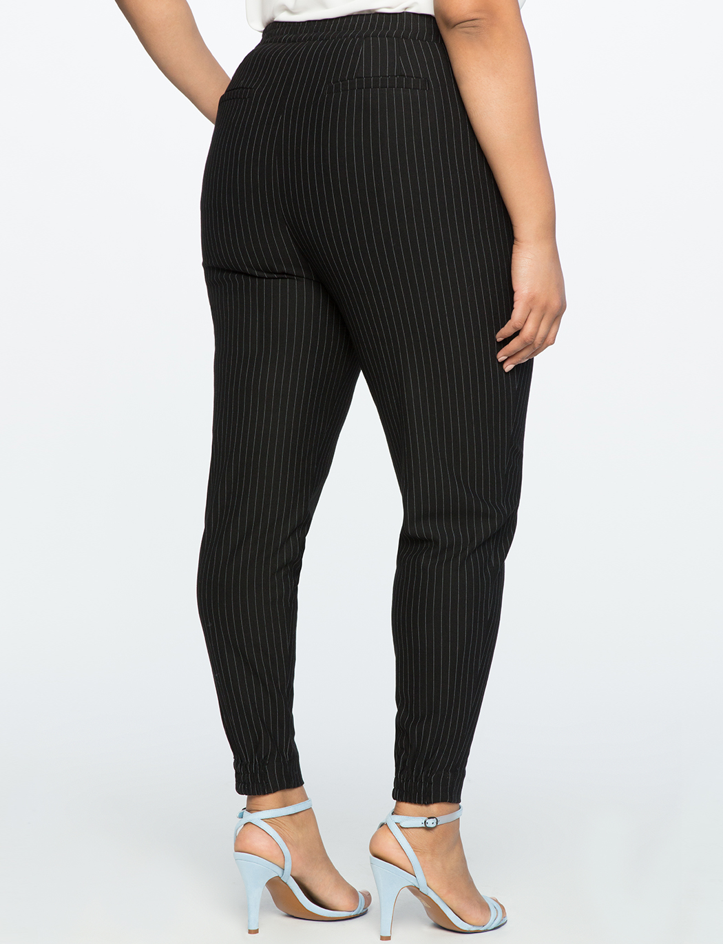 Pull On Pinstripe Trouser