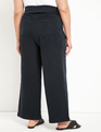 Wide Leg Jean with Foldover Waist Blue-Black Wash