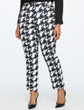Kady Fit Printed Crepe Pant Hankering For Houndstooth