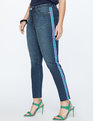 Skinny Jean with Side Stripe Light Wash