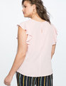 Flutter Sleeve Work Top PEACHY