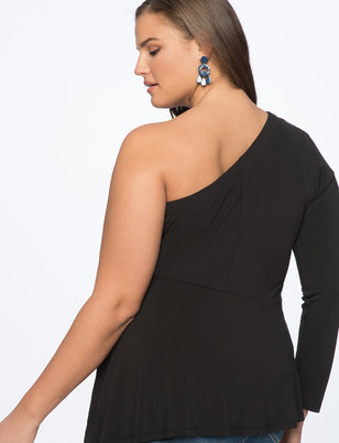 One Shoulder Top with Casading Tie