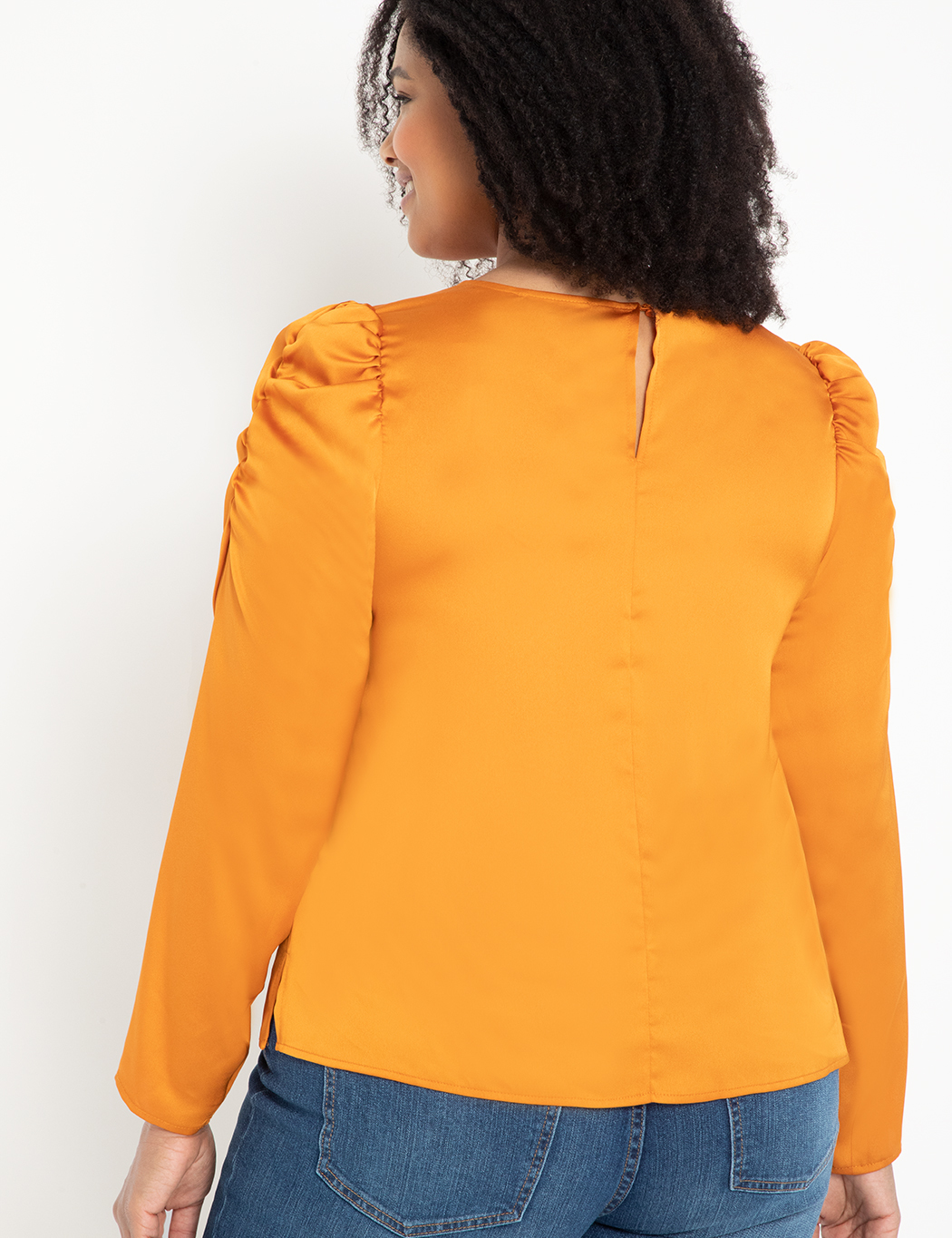 Long Sleeve Top with Puff Shoulders