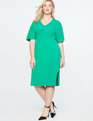 Tie Back Midi Dress with Side Slits Parakeet Green