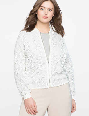 Studio Lace Bomber Jacket