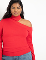 Cold Shoulder Sweater Red