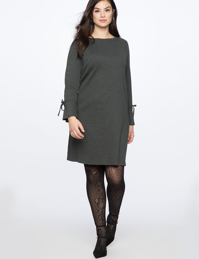 Easy Dress with Tie Sleeve