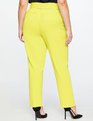 High Waisted Trouser With Belt Lemon