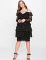 Tiered Lace Dress  Black