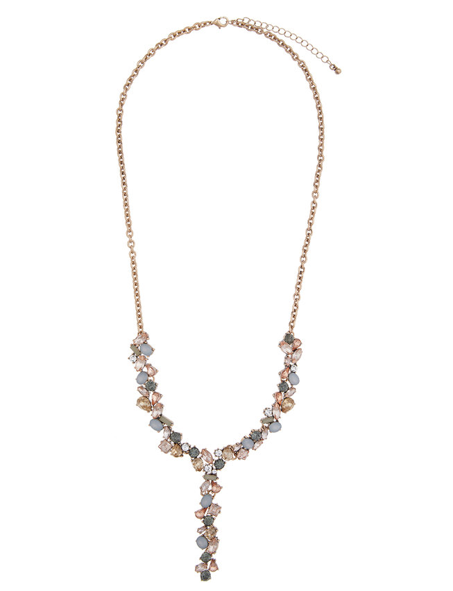 Long Jeweled Y-Necklace