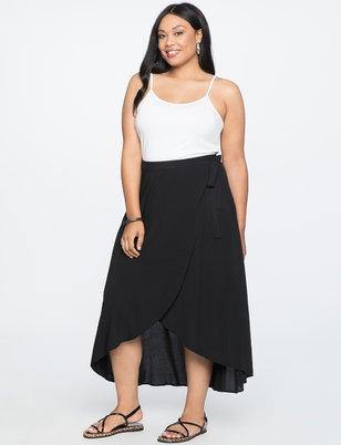 High Low Wrap Skirt