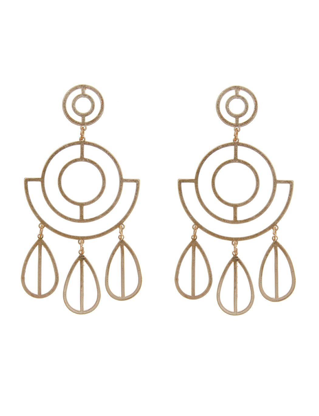 Metal Deco Outline Earrings