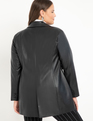 Menswear Vegan Leather Blazer Totally Black