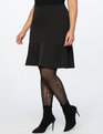 Mini Skirt With Flounce Totally Black