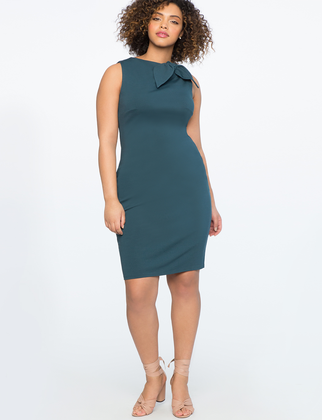 Bow Neckline Sheath Dress
