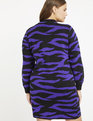 Tiger Intarsia Sweater Dress Tigris Striations