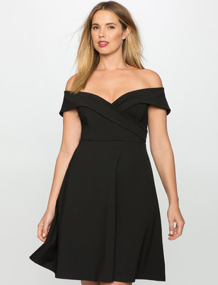Off the Shoulder Wrap Waist Dress