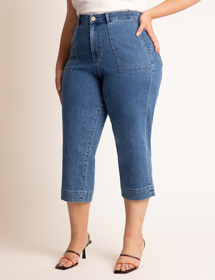 Crop Patch Pocket Jean