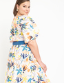Puff Sleeve Dress With Back Cut Out Summer Loving