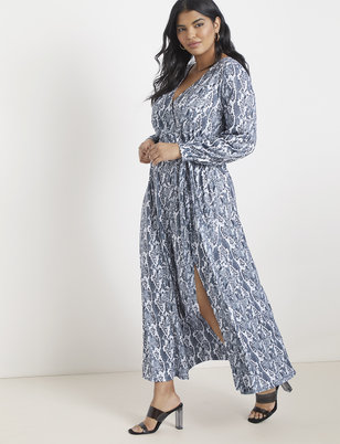 57aac85dcd Printed Wrap Maxi Dress ...