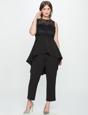 High Low Lace Jumpsuit