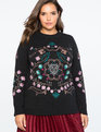Embroidered Sweater TOTALLY BLACK
