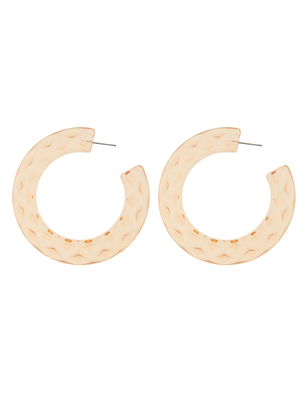 Faceted Resin Hoops
