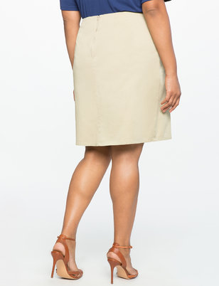 Embroidered Twill Skirt