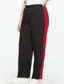 Side Stripe Track Pant Black with Red Stripes