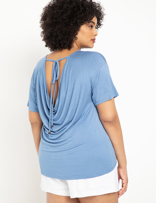 Cowl Back Top