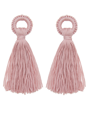 Thread Wrapped Tassel Earrings