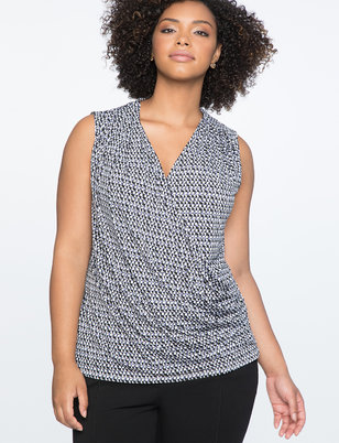 9-to-5 Draped Front Tank
