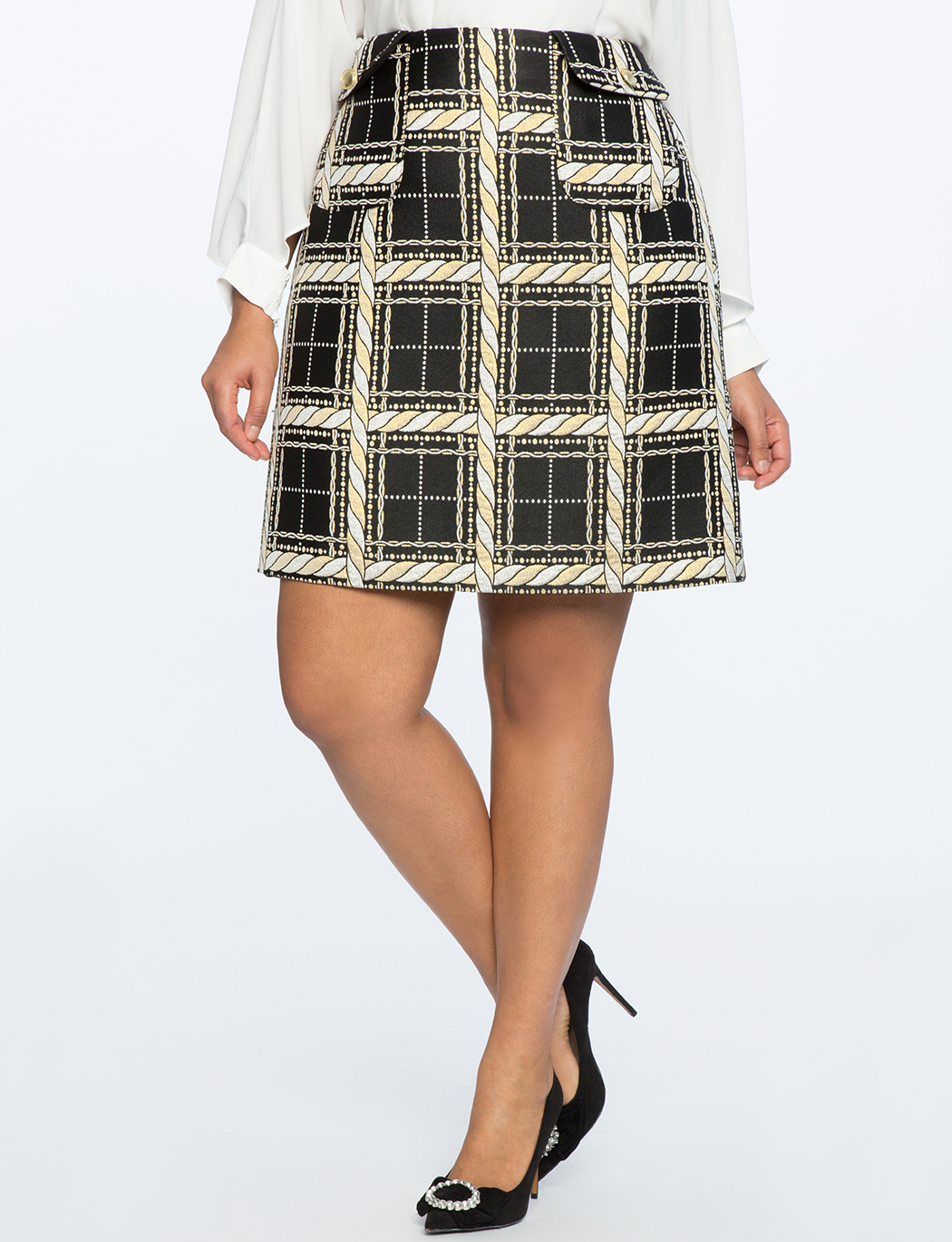 59ae4a7b4 Brocade A-Line Skirt | Women's Plus Size Skirts | ELOQUII
