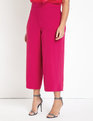 Cropped Wide Leg Trouser Very Berry
