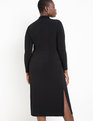 Turtleneck Dress with Cutout Black
