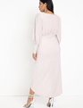 Sparkle Maxi Dress with Wrap Skirt Blush
