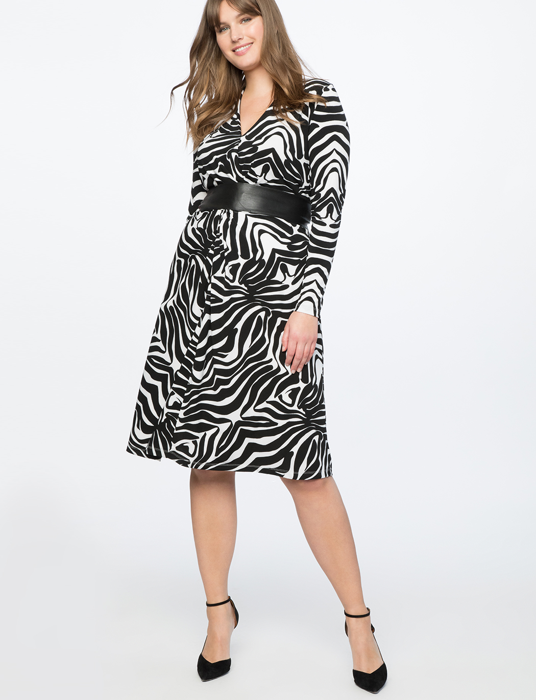 Twist Front Printed Dress