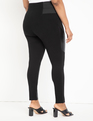 Miracle Flawless Legging with Quilted Moto Detail Black