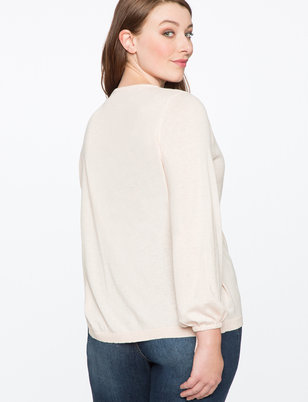 Relaxed Tie Sleeve Sweater