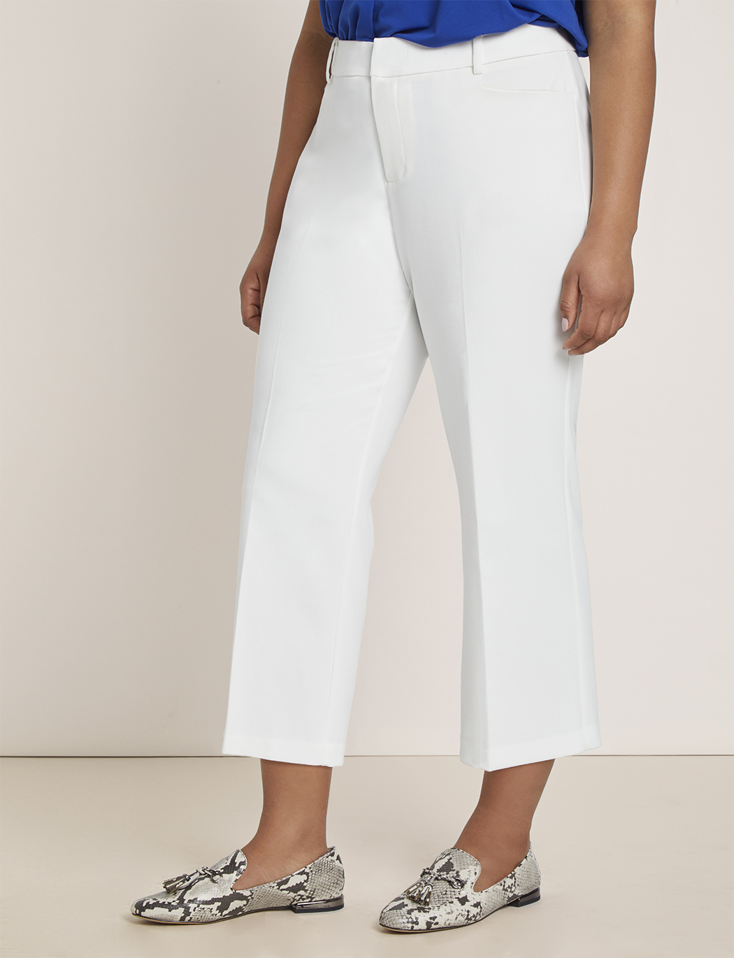 Cropped Kick Flare Trouser