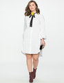 Shirt Dress with Flare Sleeves TRUE WHITE