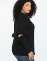 Ruffled Cutout Sweater Black