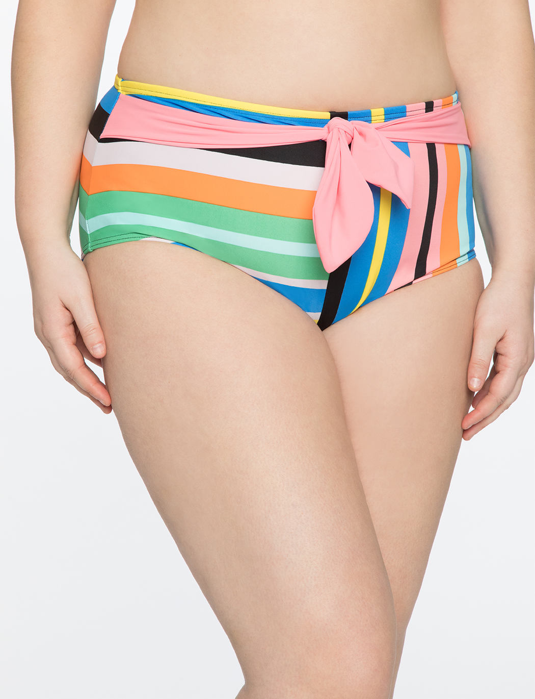 High Waisted Bikini Bottoms with Tie