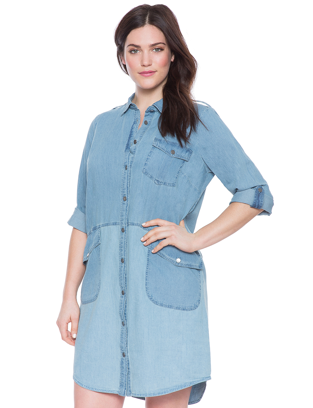 Chambray Shirt Dress Womens Plus Size Dresses Eloquii