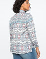 Conversational Print Blouse Lovebirds