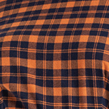 Orange + Navy Plaid